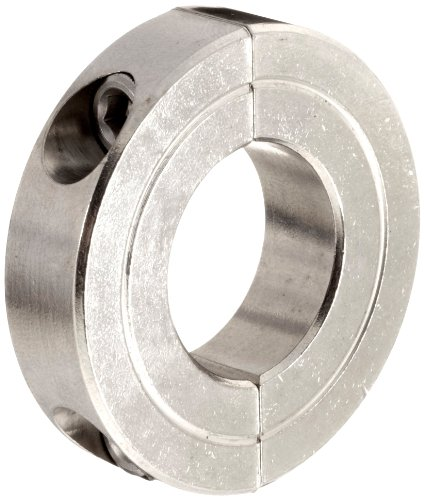 Climax Metal H2C-037-S Shaft Collar, Two Piece, Clamp Style, Stainless Steel, 3/8