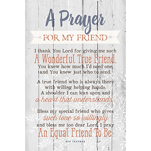 Dexsa Prayer for My Friend...New Horizons Wood Plaque with Easel
