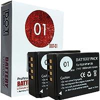 2x DOT-01 Brand 1800 mAh Replacement Fujifilm NP-W126 Batteries for Fujifilm X-T10 Compact System Digital Camera and Fujifilm NPW126