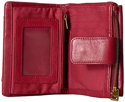Fossil Ellis Multifunction Red Velvet Wallet