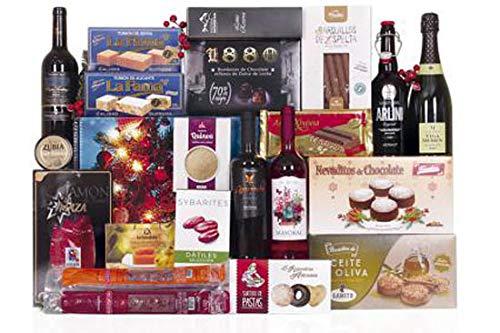 Lote de navidad con ibéricos de bellota, vinos y licores variados, conservas y amplio