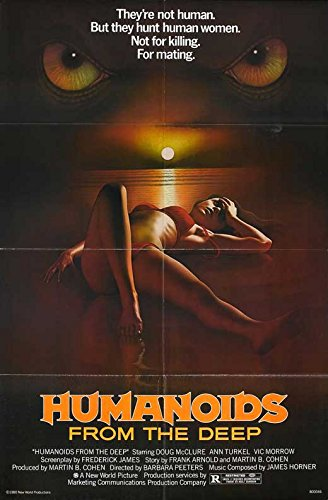 Movie Posters Humanoids from The Deep - 27 x 40