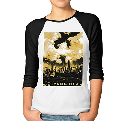 Girls 3/4 Sleeve\r\n Burnout Jersey T-shirts Wu Tang Clan Cloud Symbol Over NYC Cool T - Clouds T-shirt Juniors
