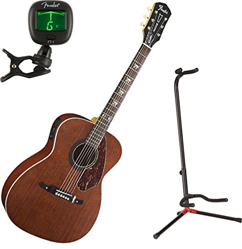 Fender 0971752022 Tim Armstrong Hellcat Acoustic Guitar w/ Stand and Tuner (Armstrong Tim Acoustic)