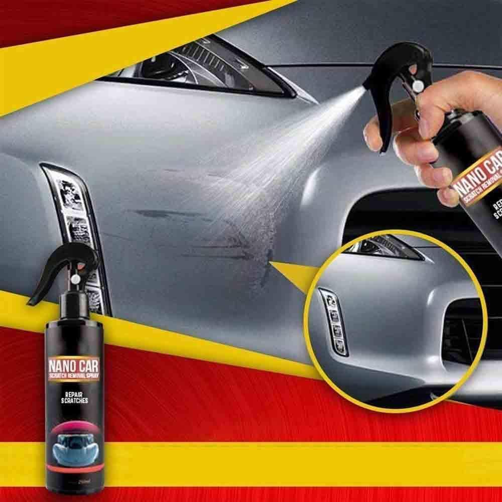 Dzans 2020 Fast Repair Scratches Nano Autokratzer Entfernungsspray 250 Ml Nano Autoreparaturspray Mit Nano Magic Cloth Für Autos Auto