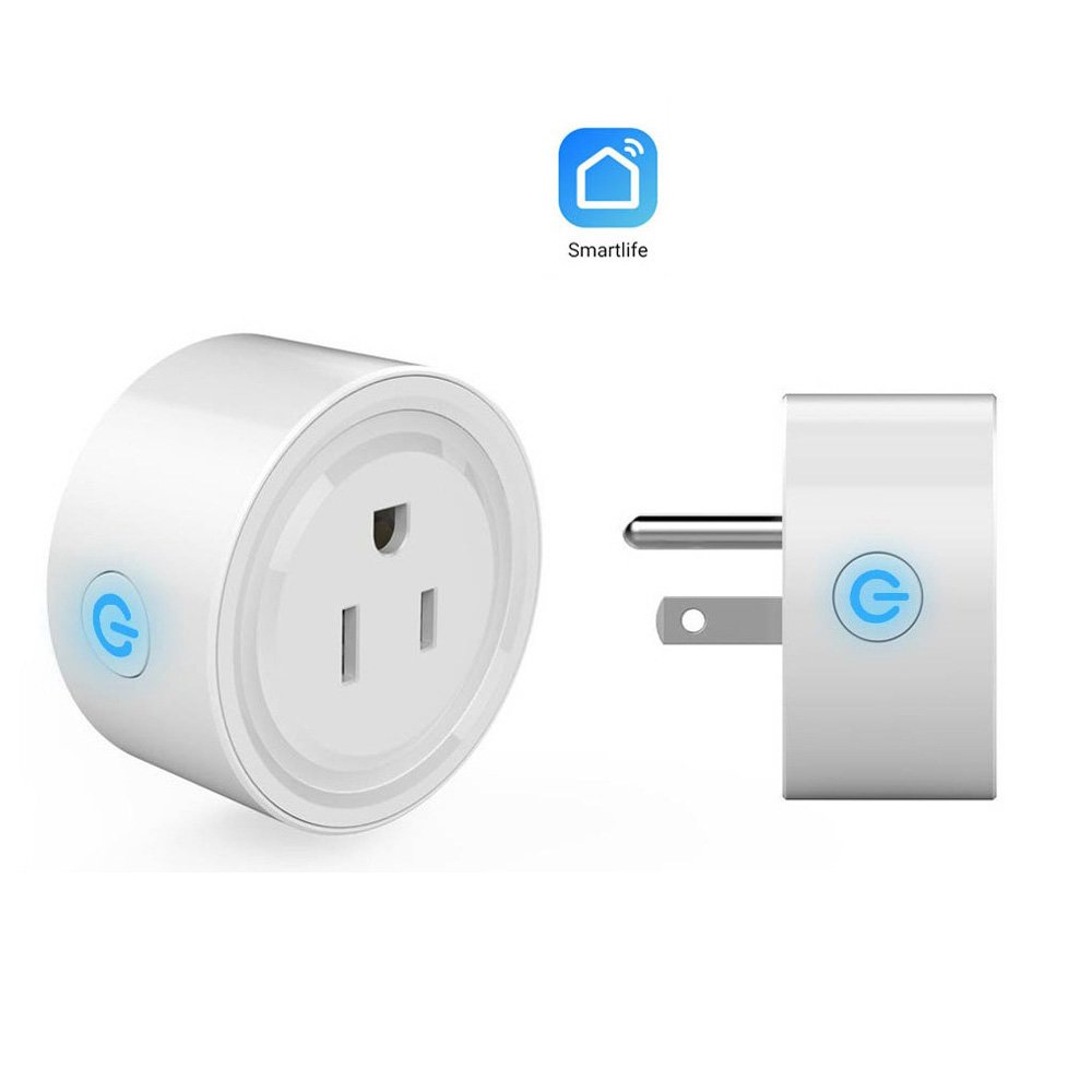 Smart Mini Wifi Plug Socket Outlet, Works with Amazon Echo Alexa Voice Control & Google Home | No Hub Required | iHome Timer Control Outlet | iPhone, Android Smart Phones Compatible by ENEGG (Image #2)