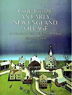 Build a christmas village paper houses to make and decorate for the cut and assemble an early new england village 12 authentic full color buildings in fandeluxe Images
