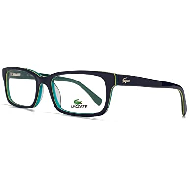 8b26a7cd62 LACOSTE Eyeglasses L2725 414 Blue Aqua 54MM at Amazon Men s Clothing ...