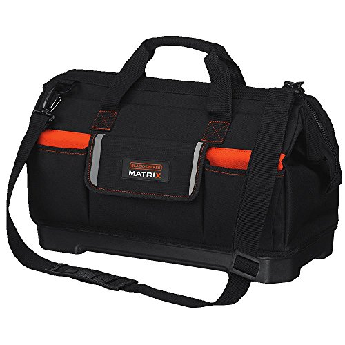 BLACK+DECKER Tool Tote Bag for Matrix System, Wide-Mouth (BDCMTSB)