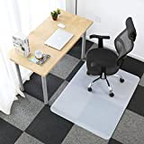 Alpha Home Polypropylene Carpet Chair Mat for Home and Office | Non-Slip Studded Back | for Low and Medium Pile Carpets | Shipped Flat (Translucent, 30'' x 48'')