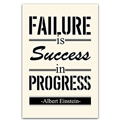 This Is Progress No Longer Printing On >> Amazon Com Motivational Poster Print Art Failure Is Success In