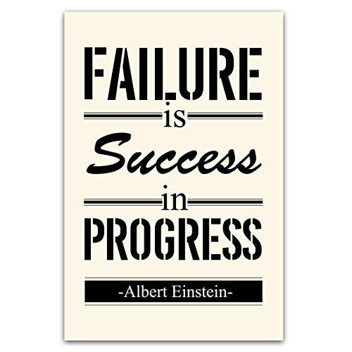 Arte de impresión Póster de motivación éxito es el fracaso ...