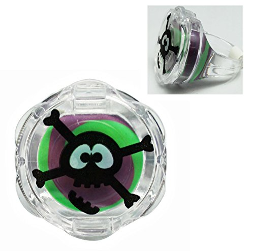 Grape Scented/Flavored Plastic Skull Ring Lip Gloss - By Ganz ()