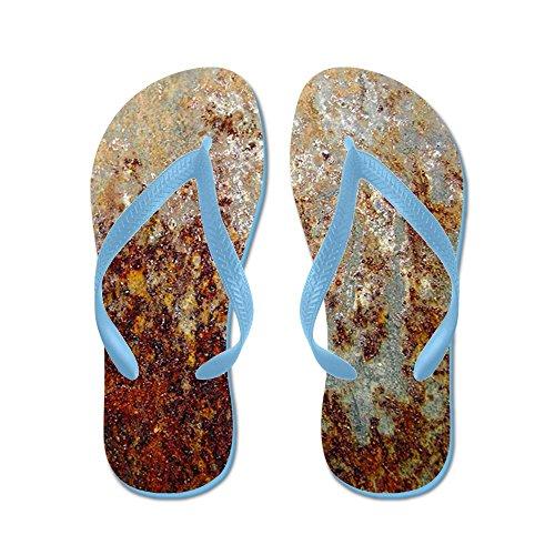 Cafepress Rost - Flip Flops, Roliga Rem Sandaler, Strand Sandaler Caribbean Blue