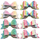 XIMA Glitter Hair Bows Clips Princess Hairgrips...