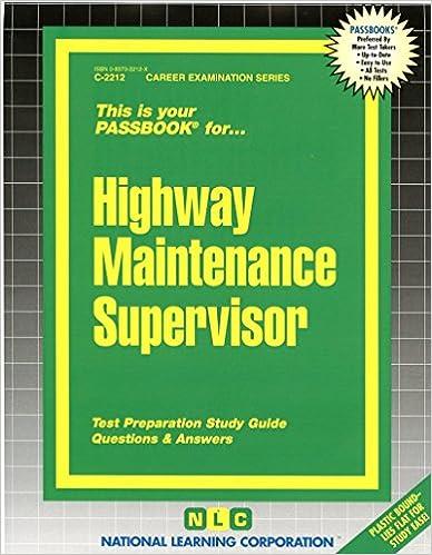 maintenance supervisor exam study guide