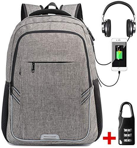 Mochila Para Portátiles Laptop Mochilas Antirrobo Impermeable Mujer Daypack Mochila con USB Puerto de Carga ,Mochila de Negocios Hombre Gris: Amazon.es: ...