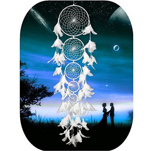 CHICIEVE White Long Dream Catchers Wedding Decor Home Ornament for Girls Living Bedroom - Length 42 Inch