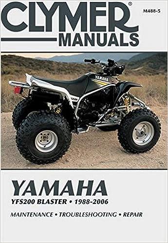 [QMVU_8575]  Yamaha YFS200 Blaster, 1988-2006: Maintenance * Troubleshooting * Repair  (Clymer Powersport): Clymer Publications: 9781620923320: Amazon.com: Books | 1988 Yamaha 200 Blaster Wiring Diagram |  | Amazon.com