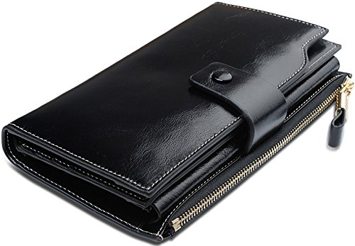 Women Leather Clutch (Black) - 7