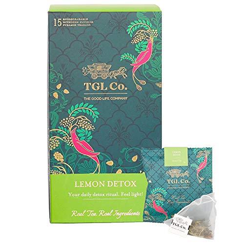 TGL Lemon Detox Green Tea, 16 Tea Bags with Green Sencha Tea, Lemon Slices, Lemongrass, Everlasting & Miracle Mint Tea…