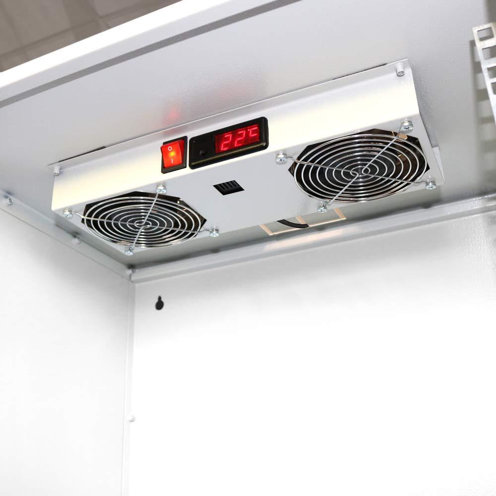 Steckdosenleiste Netzwerkschrank 19 Zoll Serverschrank Aluminium 8 Fach Schalter /Überspannungsschutz 19 Server Rack 1HE 1U ARLI