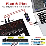 FORE MIDI to USB Interface MIDI Cable Adapter