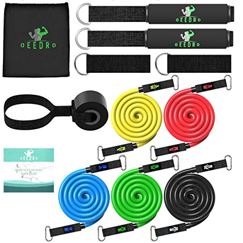 Deedro Resistance Band Set 12pcs Exercise Bands with Door An