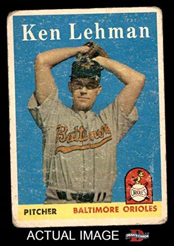 1958 Topps # 141 Ken Lehman Baltimore Orioles (Baseball Card) Dean's Cards 1.5 - FAIR (141 Ken)