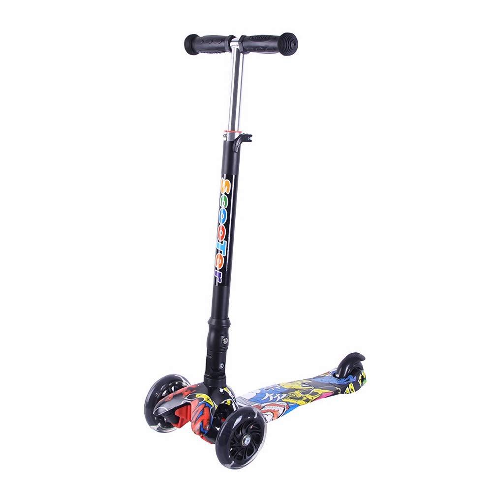 Runplayer 子供の滑り止め三輪スクーターに適して ) Black B07R28SF3J、折りたたみ、持ち運びが簡単、子供用自転車、滑り止めハンドル、子供用ギフト ( Color : Black ) B07R28SF3J, WisHWooD:e6269079 --- 216.176.180.232