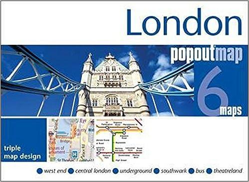 London Popout Map: 3 Popout Maps In One Handy, Pocket-size Format por Popout Maps epub