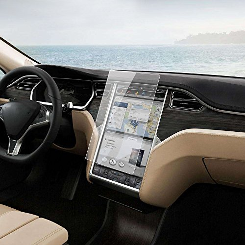 "Tesla Navigation Touch Screen Protector – 17"" Anti-scratch Anti-fingerprints HD Vision Tempered Glass Screen Protector for Tesla Model S & Model X (Scratches Of Glass Take Out)"