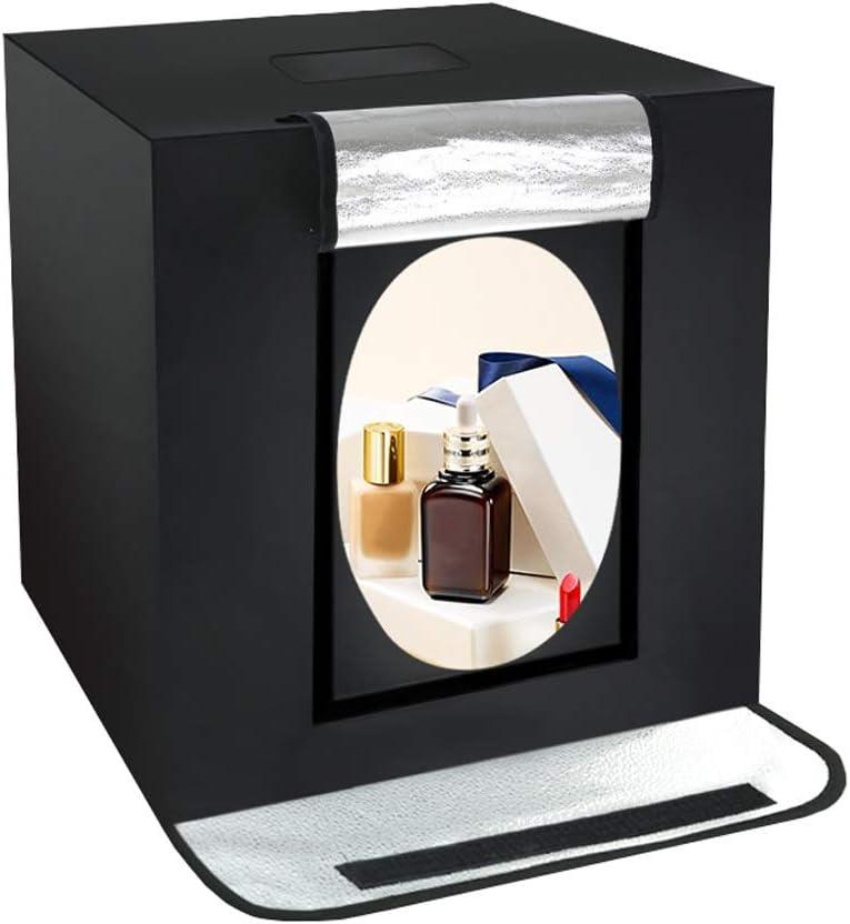 XAOBNIU Carpa con Caja de luz fotográfica, 24x24x24 / 60x60x60cm, 126 Carpa for Estudio fotográfico con luz LED, con 3 Fondos (Size : 4 Light Bars): Amazon.es: Hogar