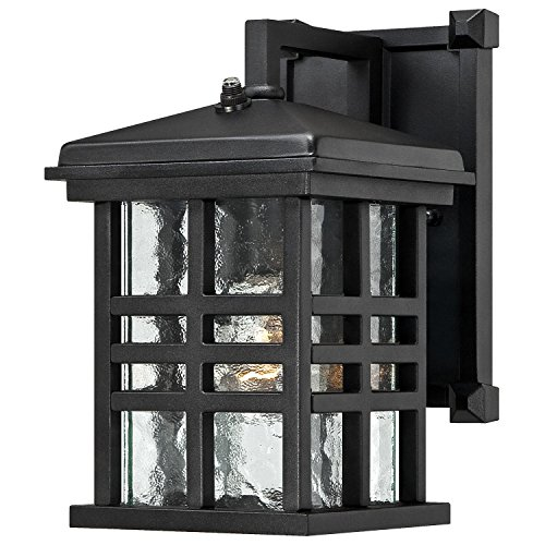 Westinghouse Lighting Westinghouse 6204500 Caliste 1 Light Outdoor Wall Lantern with Dusk to Dawn Sensor, Textured Black,