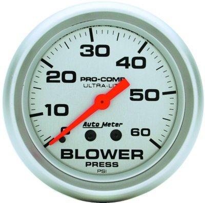 4402 - Autometer 4402 Blower Pressure Gauge - Mechanical, Universal (Mechanical Blower Pressure Gauge)