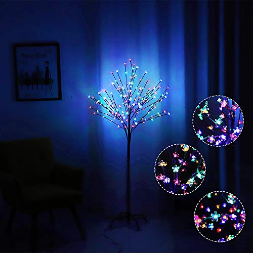 WED 152LED Peach Blossem LED Tree Light, Cherry Blossem LED Tree Light 5Ft Floor Lamp for Home Party Indoor and Outdoor Christmas Decoration (Outdoor Indoor Floor Lamps)
