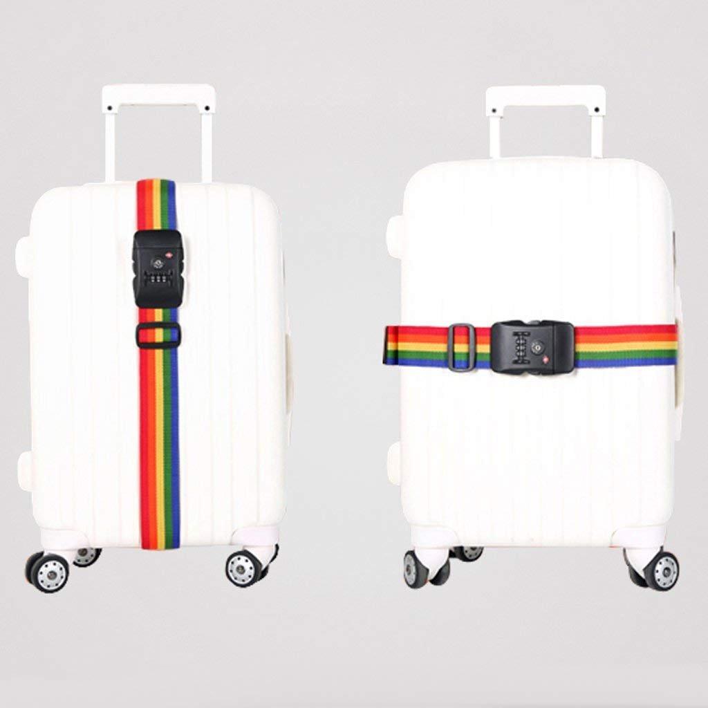 Wilk-Koffergurt Rainbow Colored TSA-Zahlenschloss Schl/üssel Gep/äck Koffer Sichere Safe Riemen G/ürtel Strip