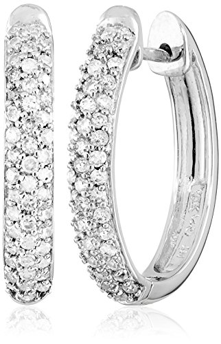 Pave White Gold Earrings - 5