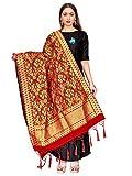 ELINA FASHION Women's Zari Work Indian Banarasi Art Silk Woven Only Dupatta for Dress Material & Salwar Suit (Orange)
