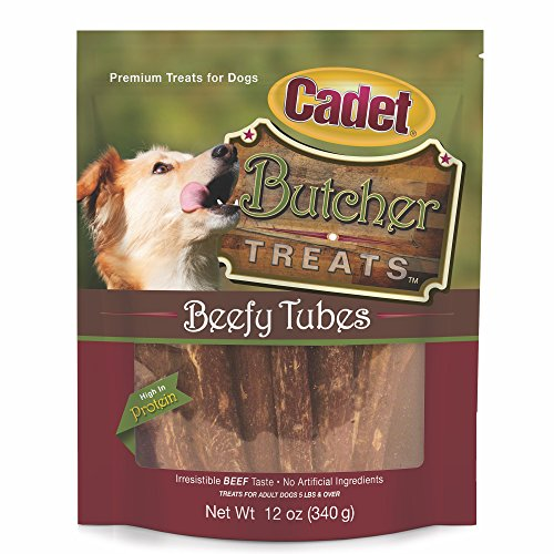 Cadet Butcher Treats Beefy Tubes For Dogs, 12 Oz