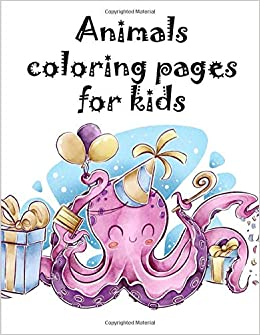 Animals coloring pages for kids: A Coloring Pages with Funny ...