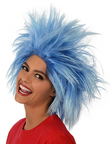 Kangaroo's Funky Spiky Blue Wig; Costume Wig (Thing 1 And 2 Costumes)
