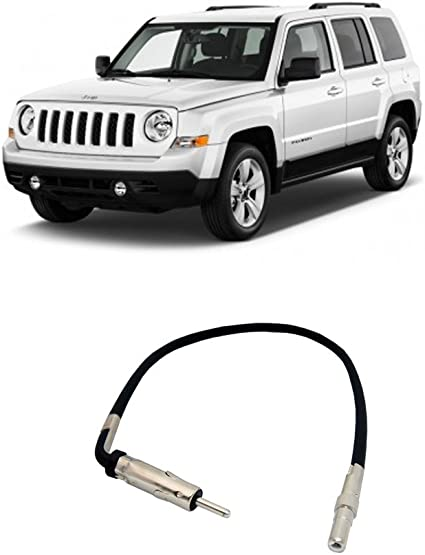 Compatible with Jeep Patriot 2009-2014 Factory Stereo to Aftermarket Radio Antenna Adapter Plug