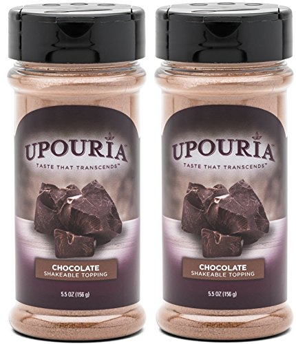 Upouria Chocolate Flavored Shakeable Topping 5.5 Ounce - (Pack of 2)