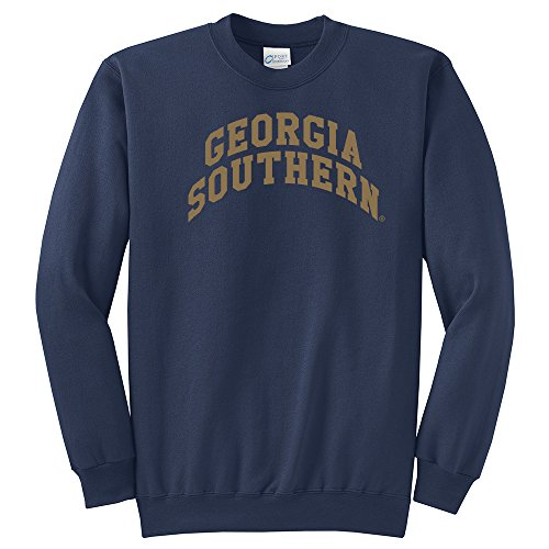 NCAA Georgia Southern Eagles Arch Classic Crewneck Sweatshirt, Medium, Navy Eagles Classic Fleece