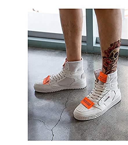 Lona Dance 5uk 26 7 Trend Cordones Tamaño Transpirable Zapatos Casual Hip Con Length Harajuku 5cm Estilo Negro foot Hhgold Hombre hop Blanco De Street 7 Para color Board 6qBWqE4