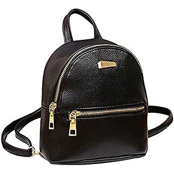 Amazon.com: Cute Mini Leather Backpack Fashion Small