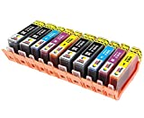 TONER EXPERTE 10 XL (2 SETS + 2 BLACK) Compatible Ink Cartridges Replacement for HP 364XL Photosmart 5510 5515 5520 6510 6520 B110a Plus B209a B210a Deskjet 3070A 3520 Officejet 4610 4620