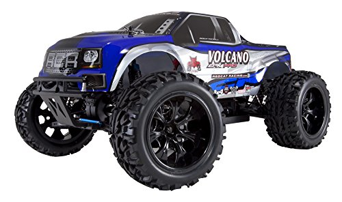(Redcat Racing Volcano EPX PRO Brushless Electric Truck, Blue/Silver, 1/10 Scale)
