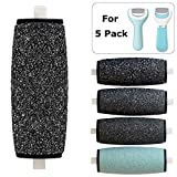 Improved 5 Pack Coarse Replacement Rollers For Amope Pedi Refills Electronic Perfect Foot File Remover (2 Extra & 2 Regular & 1 Soft Coarse)
